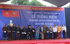 Tưởng niệm 50 năm vụ thảm sát 430 người dân Bình Hòa