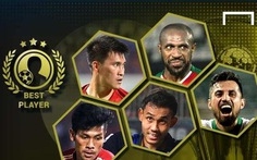 Công Vinh, Xuân Trường, Văn Thanh vào top bình chọn của Goal.com