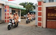 CSGT ra quân đảm bảo trật tự an toàn giao thông dịp tết