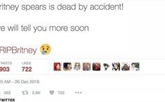 """Twitter của Sony Music: """"Britney Spears chết vì tai nạn"""""""