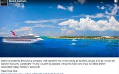 Công ty Mỹ thưởng 800 nhân viên một tuần du lịchCaribbean
