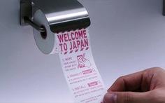'Choáng' với giấy vệ sinh cho... điện thoại ở sân bayNhật