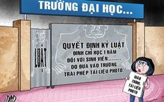 ĐH Luật TP.HCM chỉ cảnh cáo SV đưa giáo trình photo vào trường