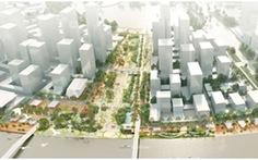 Quy hoạch quảng trường trung tâm khu đô thị mới Thủ Thiêm