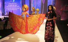 Xem hình ảnh áo dài đẹp của đêm bế mạc Lễ hội áo dài