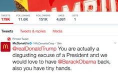 Tin tặc tấn công McDonald, chửi xéo ông Trump