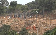 Đình chỉ thi công công trình trên núi Sơn Trà