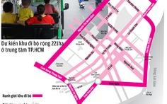 Trung tâm TP.HCM thành khu đi bộ: đường nào bị cấm xe?