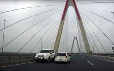 Sẽ xử nghiêm xe Bộ Y tế lao ngược chiều trên cầu Nhật Tân