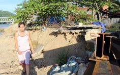 Sạt lở bờ sông Cái Nha Trang, hàng trăm hộ dân kêu cứu