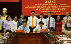 Thành ủy TP.HCM ký kết hợp tác với Tạp chí cộng sản