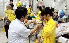 Thời tiết thay đổi, nhiều trẻ mắc các bệnh về hô hấp