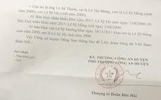 Công an huyện Đông Sơn xác nhậnSỹ Hà và Sỹ Hồng sinh năm 2000
