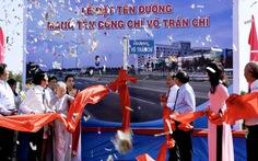 Đường dẫn vào cao tốc Trung Lương mang tên ông Võ Trần Chí