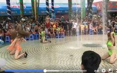 Múa 'mát mẻ' tại Đầm Sen, khán giả bức xúc