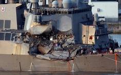 Vụ đâm tàu khu trục Mỹ: Thuyền trưởng tàu hàng khai đã phát cảnh báo