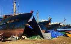 Đã có ba địa phương báo có tàu cá vỏ thép hỏng