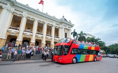 Hà Nội thử nghiệm xe buýt du lịch 2 tầng mui trần