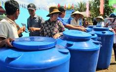 Người dân cù lao Tân Phú Đông vui mừng đón nước sạch