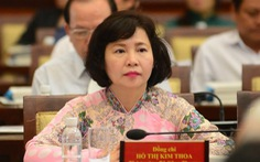 Ban Bí thư quyết định miễn nhiệm bà Hồ Thị Kim Thoa