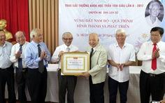 'Vùng đất Nam Bộ quá trình hình thành và phát triển' đoạt giải Trần Văn Giàu