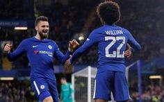 """Giroud """"mở hàng"""", Chelsea tưng bừng vào tứ kết cúp FA"""