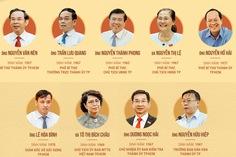 16 thành viên Ban thường vụ Thành ủy TP.HCM nhiệm kỳ 2020 - 2025