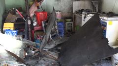 Cháy nhà gần trường học, nhiều tài sản bị thiêu rụi