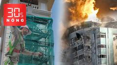 Bản tin 30s Nóng: Thợ sơn nghi trúng 'đạn' khi đang sửa tháp chuông; Israel không kích sập một tòa nhà