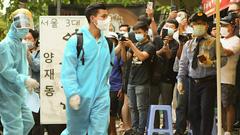 Video: Đội tuyển Việt Nam đang cách ly tại một khách sạn ở quận 7