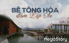 Bê tông hoá đầm Lập An - đầm nước lợ đẹp nhất miền Trung
