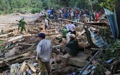 Những hình ảnh đầu tiên ngôi làng bị vùi lấp tại Trà Leng, Nam Trà My