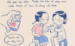 Nhật ký đi tiêm vắc xin của tác giả bộ tranh 'em bé cách ly' lại gây sốt