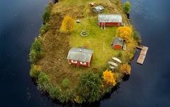 Đảo 'bốn mùa' Phần Lan đẹp mê hồn nhìn từ trên cao