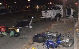 Đã tìm được tài xế lái xe bán tải tông hàng loạt xe máy