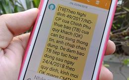 Chỉ thuê bao nhận tin nhắn thông báo mới cần bổ sung thông tin