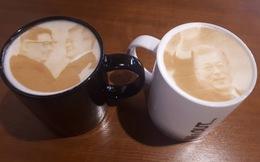 'Cà phê hòa bình' in hình Lãnh đạo Kim Jong Un và Tổng thống Moon Jae In