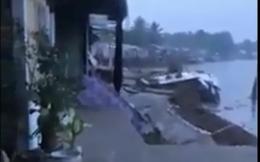 Video clip kinh hoàng cảnh 'hà bá' nuốt chửng 5 căn nhà ở Cần Thơ