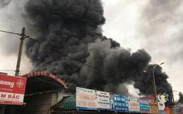 Chợ Sóc Sơn ở Hà Nội bị thiêu rụi sau cháy lớn