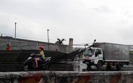 Lốc xoáy làm trụ điện dọc quốc lộ 51 ngã hàng loạt