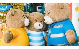 Gia đình gấu mập dễ thương làm xôn xao sân bay Đà Nẵng