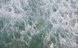 Máy bay không người lái cứu hộ người thành công trên biển