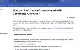Công cụ giúp kiểm tra ngay ai là nạn nhân của Cambridge Analytica
