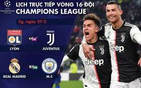 Lịch trực tiếp Champions League: Real Madrid - Man City