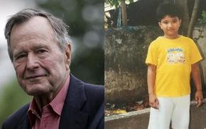Bush 'cha' làm bạn tâm thư với bé trai Philippines suốt 10 năm