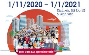 01-11-2020: Hướng dẫn điền đơn online học bổng NUS tại Hà Nội & TPHCM