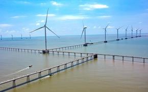 Thượng cờ cho dự án điện gió 5.000 tỉ đồng trên biển tại Trà Vinh