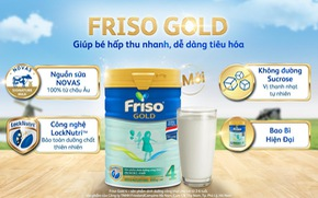 Bồi dưỡng bé tiêu hóa khỏe với Friso Gold mới 100% dinh dưỡng châu Âu