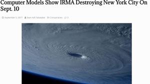 Siêu bão Irma sẽ phá huỷ New York là tin giả