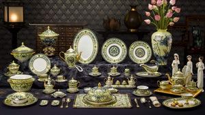 Chiêm ngưỡng bộ bàn ăn dát vàng ở tiệc chiêu đãi APEC